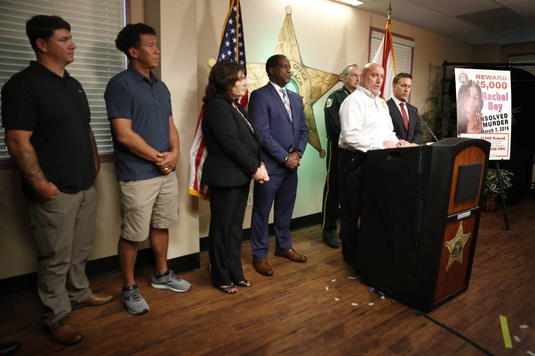 REMOVES AGE REFERENCE - Captain Michael Wallace, of Palm Beach County Sheriff's office speaks d ...