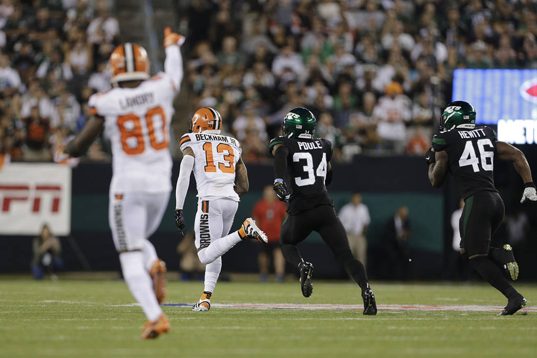 new products 3772c 2ffd3 Browns defeat Jets with Odell Beckham Jr. putting on show ...