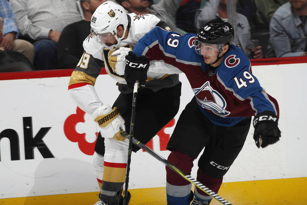 san francisco 0bfc1 ea276 GAME DAY: Golden Knights continue preseason at Avalanche ...