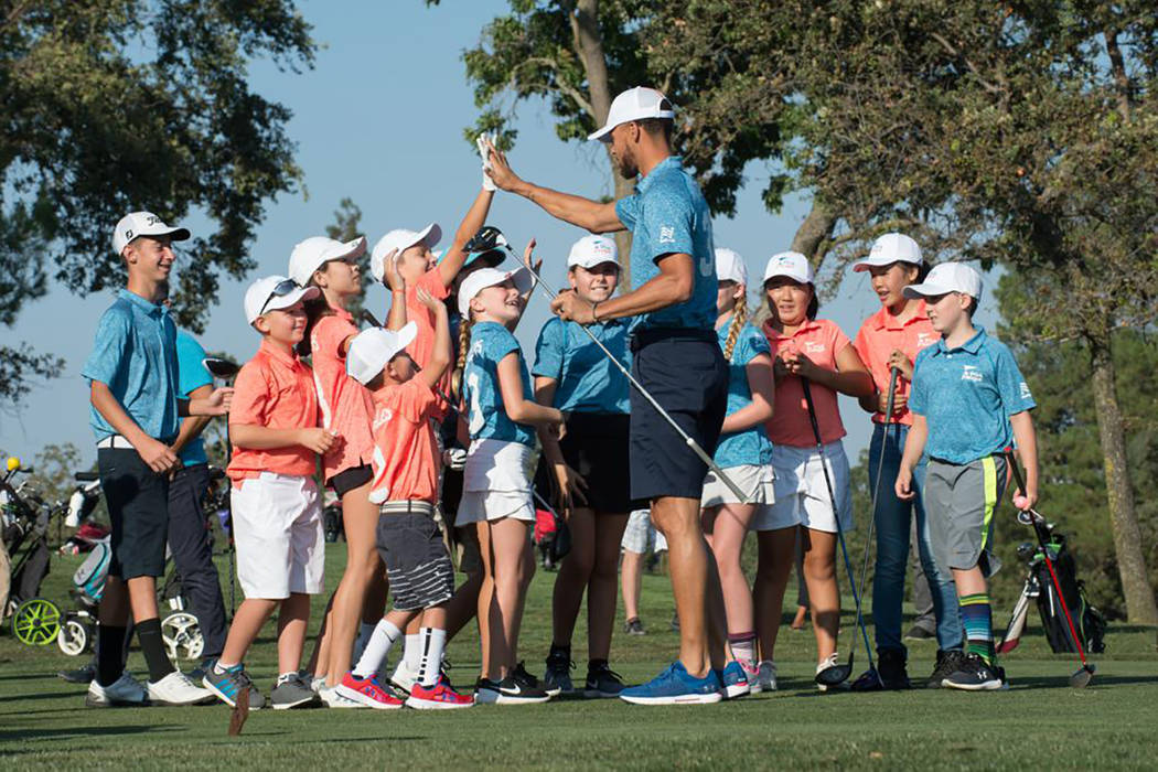 Commercial photos taken during the filming of Step Curry for PGA Junior League at Contra Costa ...