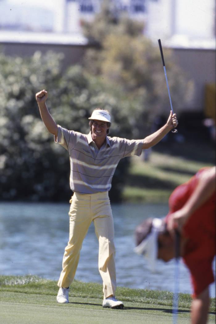 Paul Azinger wins the $1.3 million Panasonic Las Vegas Invitational golf tournament at the Las ...