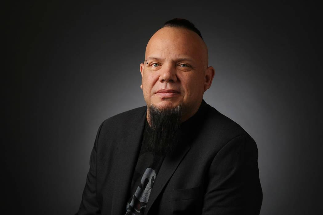 Al Mancini, reporter, poses for a portrait at the Las Vegas Review-Journal photos studio, Las V ...