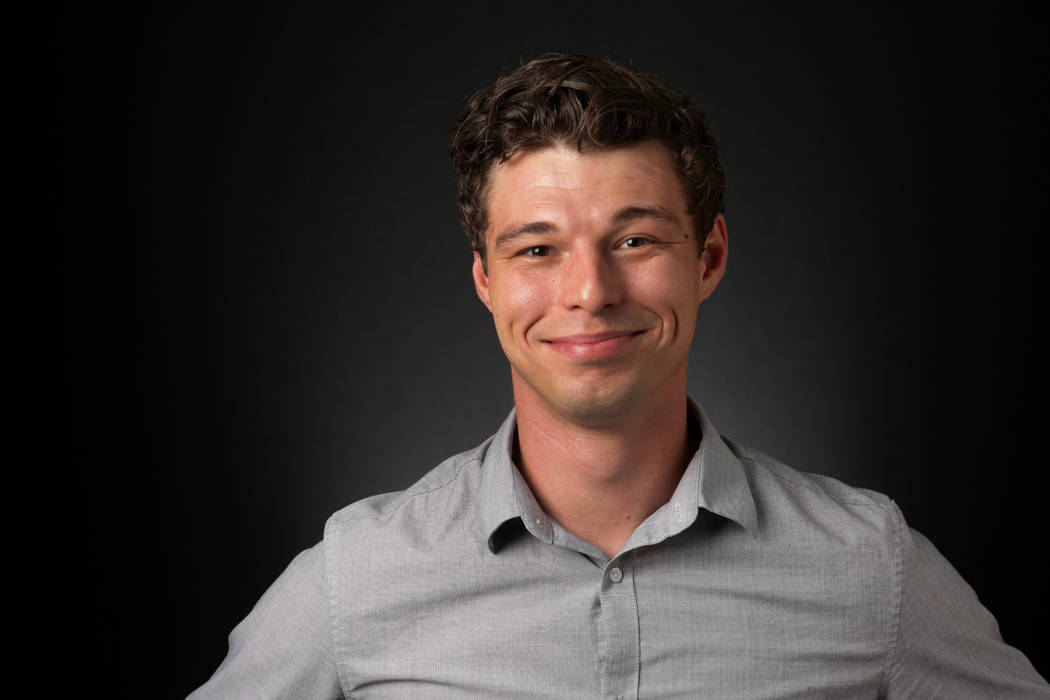 Angus Kelly, Review-Journal Studio Tech, is photographed at the Las Vegas Review-Journal office ...