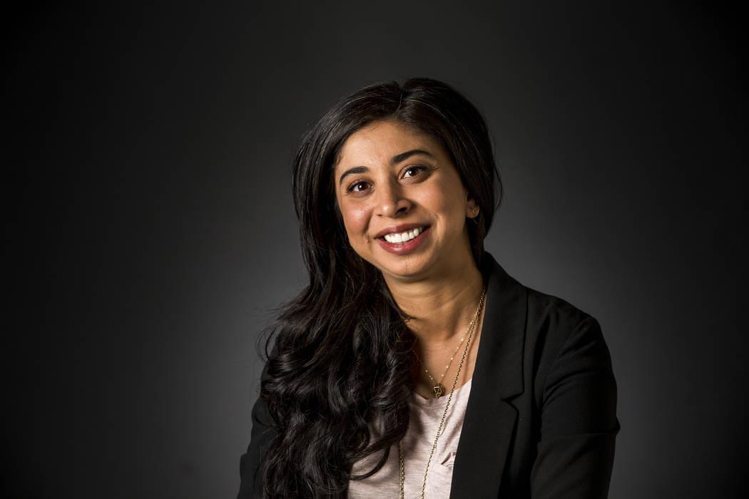 Las Vegas Review-Journal reporter Anita Hassan pictured in the RJ studio on Thursday, Feb. 15, ...