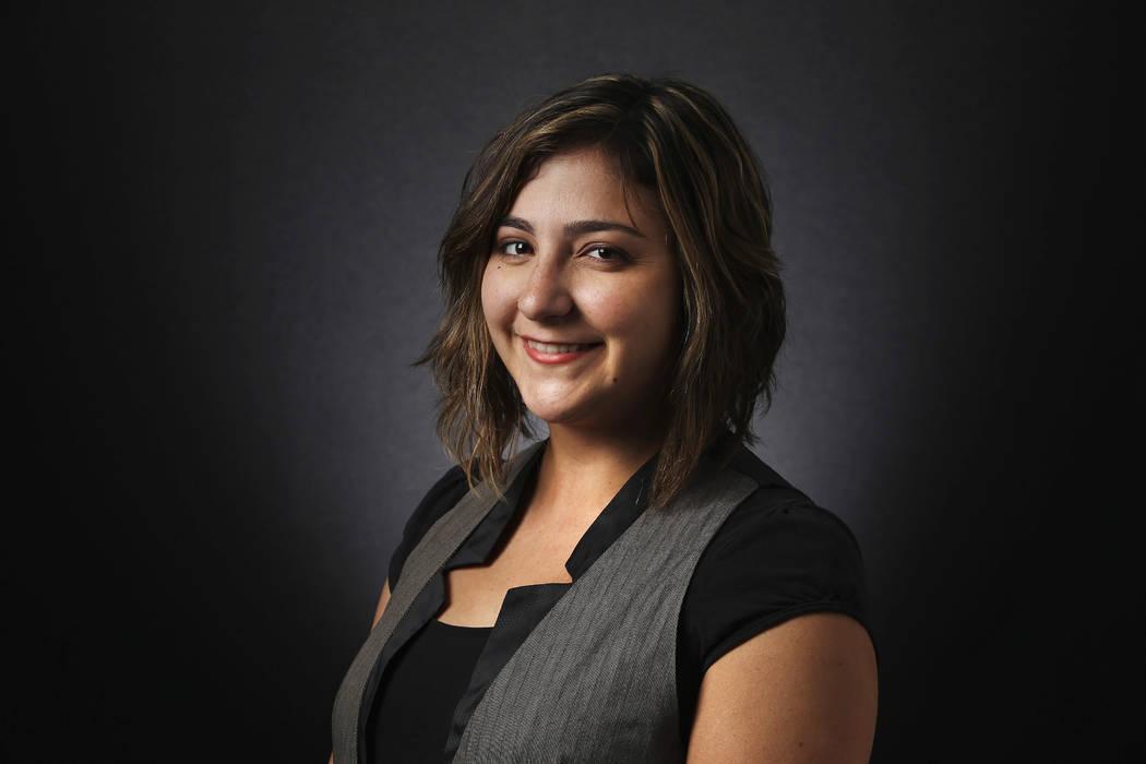 Las Vegas Review-Journal reporter Briana Erickson photographed in the RJ photo studio on Tuesda ...