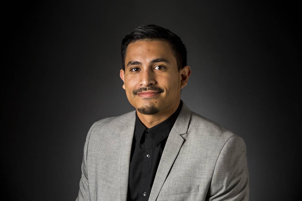 Las Vegas Review-Journal reporter Gilbert Manzano pictured in the RJ studio on Thursday, Feb. 1 ...