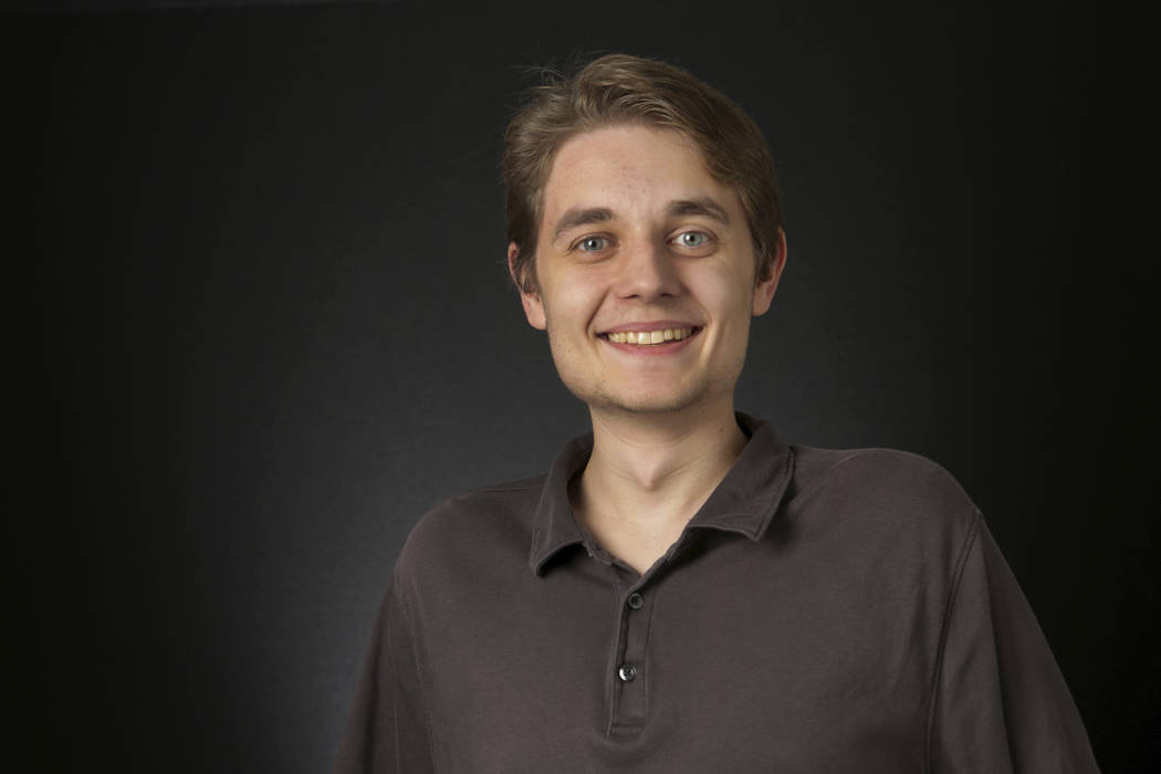 Nathan Asselin, Review-Journal Studio Tech, is photographed at the Las Vegas Review-Journal off ...