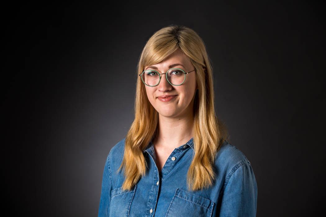 Las Vegas Review-Journal reporter Rachel Crosby pictured in the RJ studio on Wednesday, Feb. 14 ...