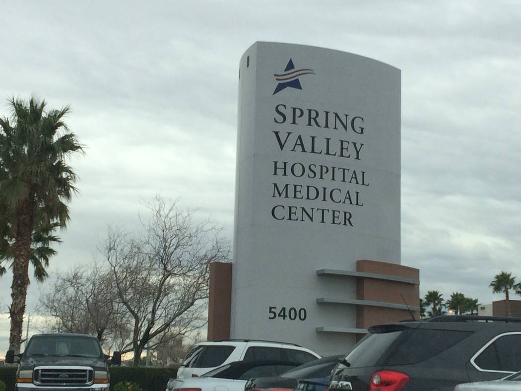 Spring Valley Hospital at 5400 S. Rainbow Blvd. in Las Vegas. (Review-Journal File Photo)