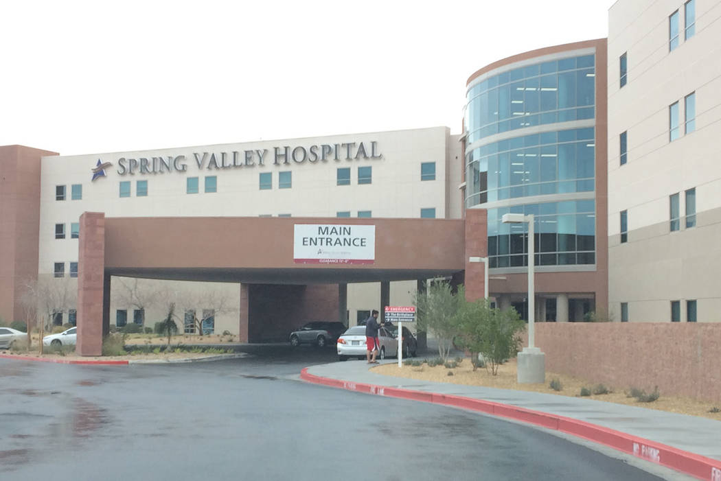 Spring Valley Hospital at 5400 S. Rainbow Blvd. in Las Vegas. (Review-Journal File Photo))