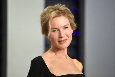 Renee Zellweger arrives at the Vanity Fair Oscar Party on Sunday, Feb. 24, 2019, in Beverly Hil ...