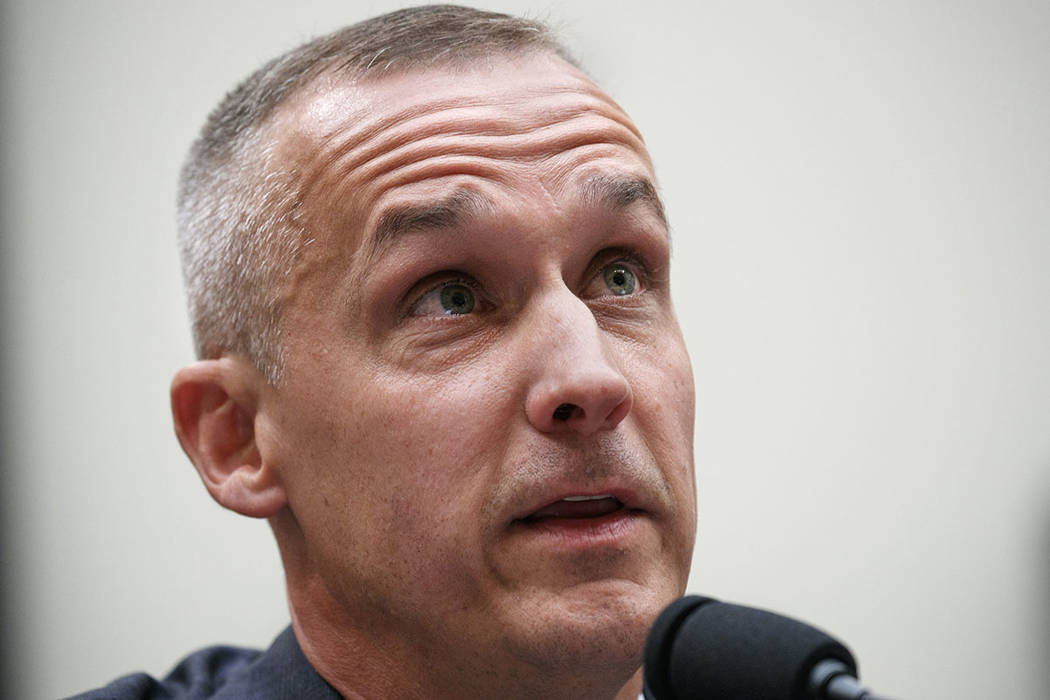 Corey Lewandowski, the former campaign manager for President Donald Trump, testifies during a H ...