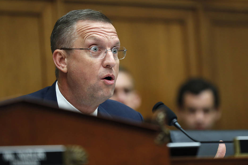 Rep. Doug Collins, R-Ga., the ranking member on the House Judiciary Committee questions Corey L ...