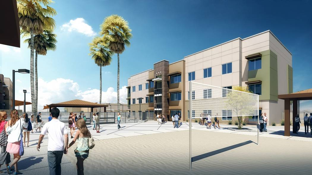A rendering of the first dorm at Nevada State College. (Nevada State College)