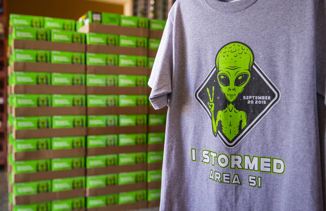 Event t-shirts and limited-edition Bud Light alien cans are available to be purchased along wit ...