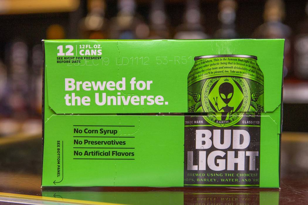 The the limited-edition Bud Light alien cans at the Sunset View Inn are available along with ot ...
