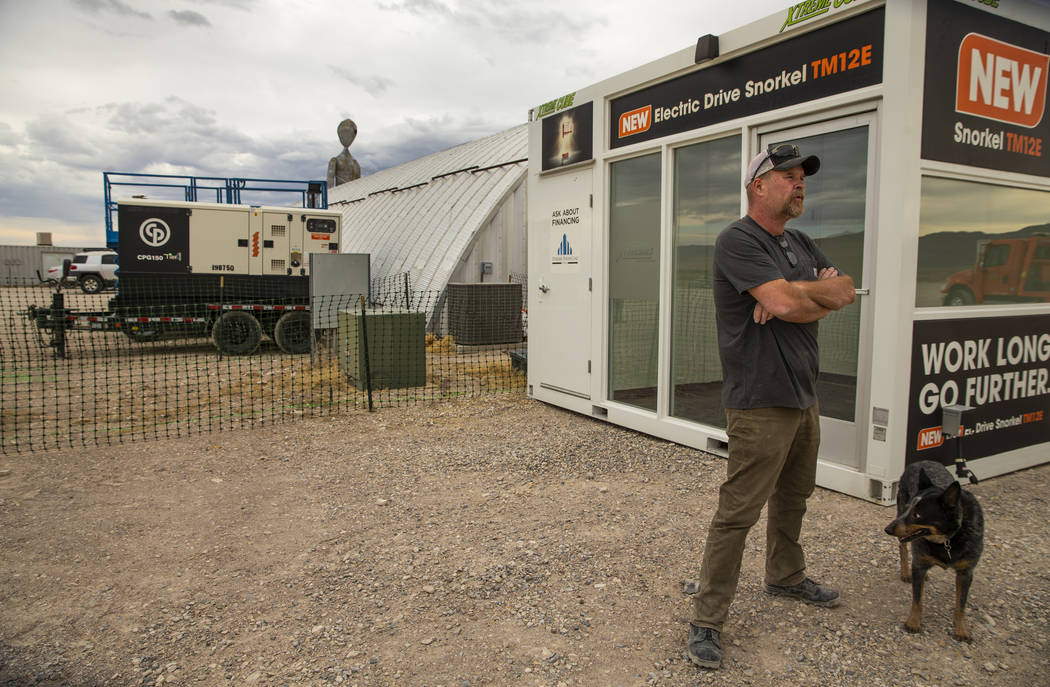 Keith Wright with Production Specialists is on hand to coordinate the development of the Area 5 ...