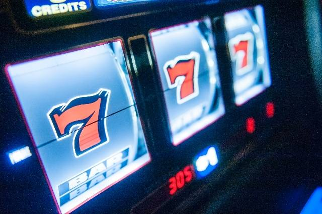 A slot machine sits on the floor of a Las Vegas casino. (File photo)