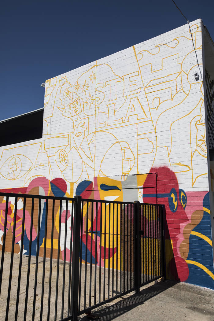 A mural-in-progress by artist Pedro Campiche, also known as Akacorleone, in partnership with St ...
