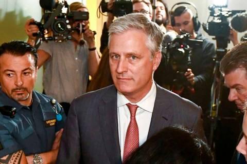 Robert O'Brien, U.S. Special Envoy Ambassador, arrives at the district court where U.S. rapper ...
