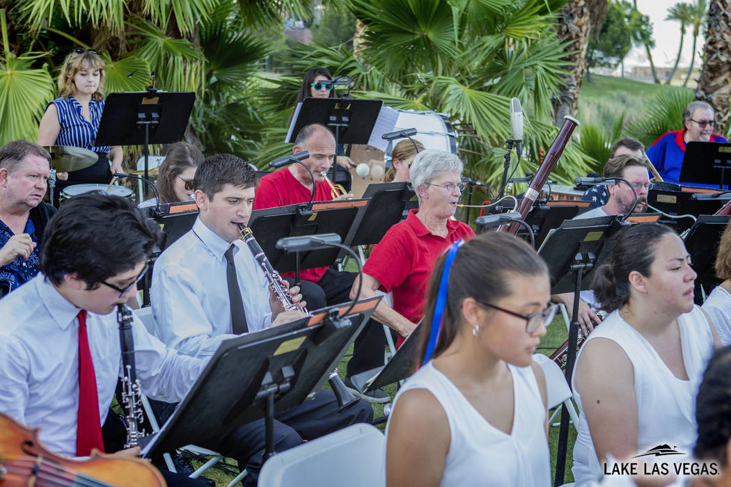 The symphony will perform on the the Lake Las Vegas Sports Club's outdoor patio at 6:30 p.m. (L ...