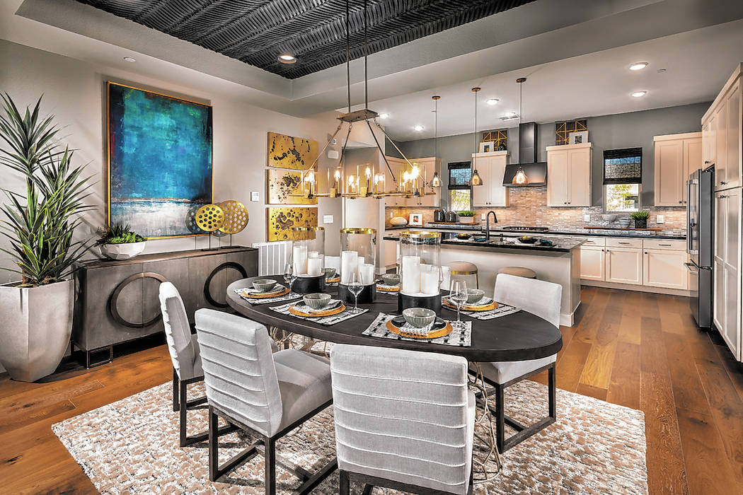 Trilogy in Summerlin Floor plans in Trilogy in Summerlin include chef's kitchens.