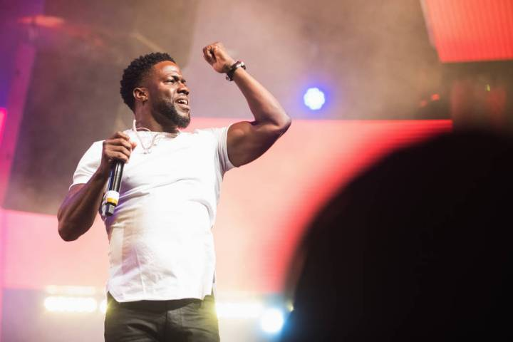Comic Kevin Hart is shown at Drai's Nightclub at the Cromwell on the Las Vegas Strip, Dec. 30, ...