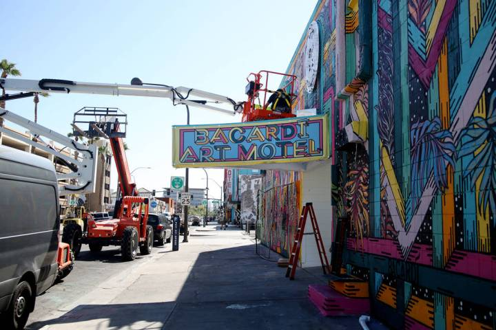 The Bacardi Art Motel is underway in preparation for Life is Beautiful music festival in downto ...