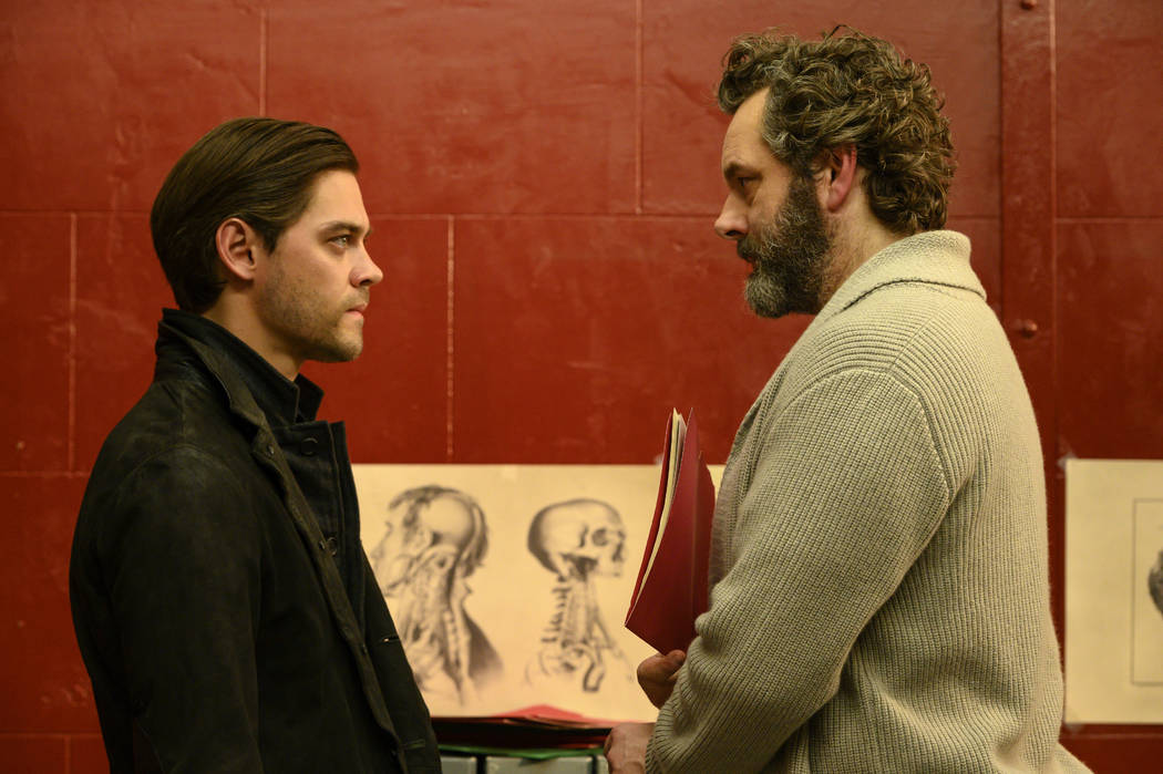 """PRODIGAL SON: L-R: Tom Payne and Michael Sheen in the """"Pilot"""" series premiere episode ..."""