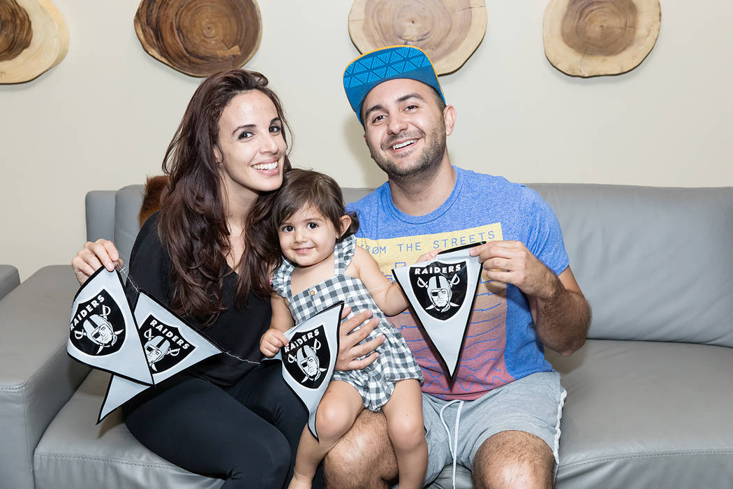 One Las Vegas residents Amana Suleiman and Anaya and Saad Ahmed watched their favorite NFL team ...