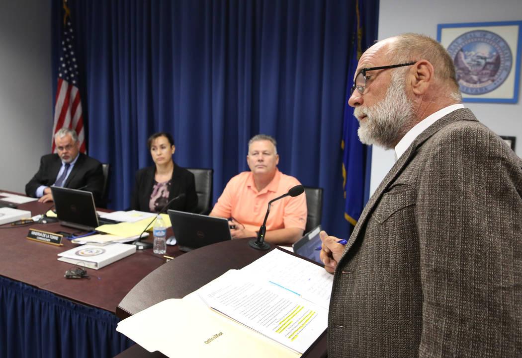 Travis Barrick, defense attorney for convicted murderer Margaret Rudin, speaks during Rudin's p ...