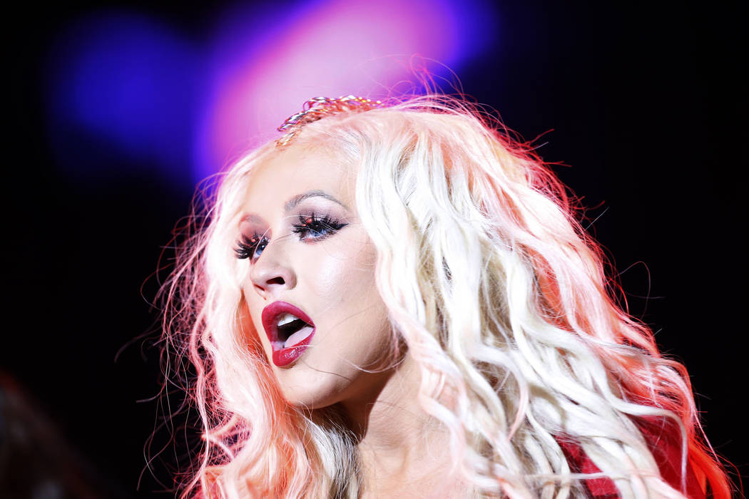 Christina Aguilera performs during a concert at the annual Mawazine Music Festival in Rabat, Mo ...