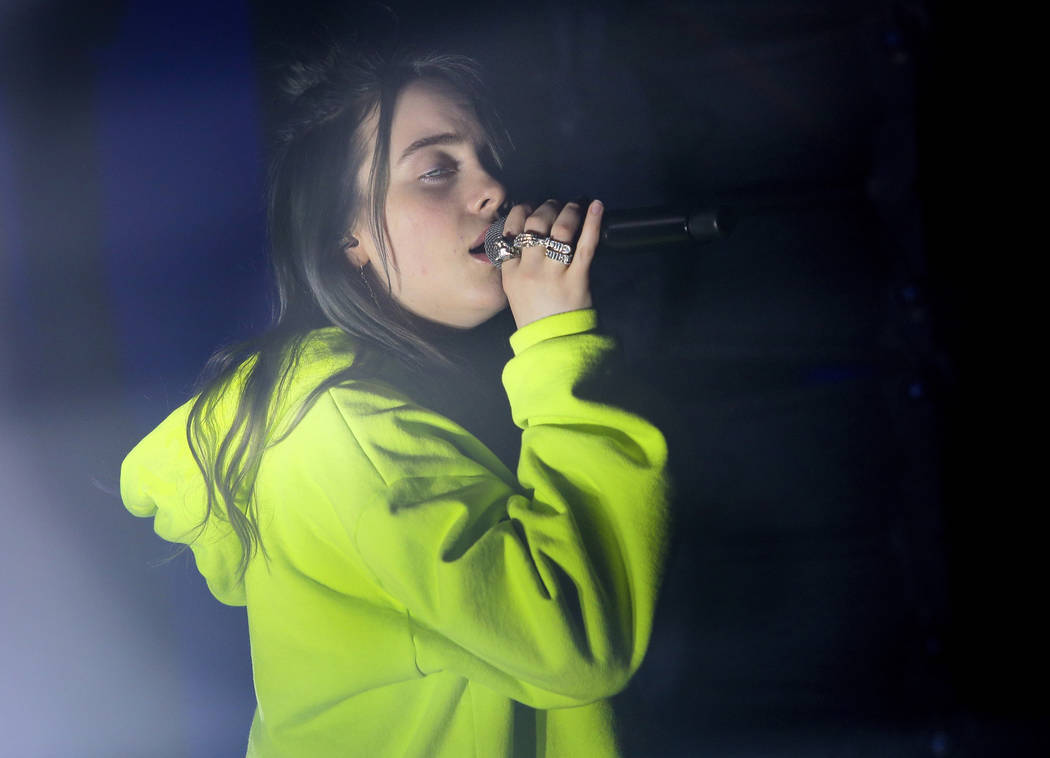 Billie Eilish performs at the Uber Eats House during the South by Southwest Music Festival on S ...