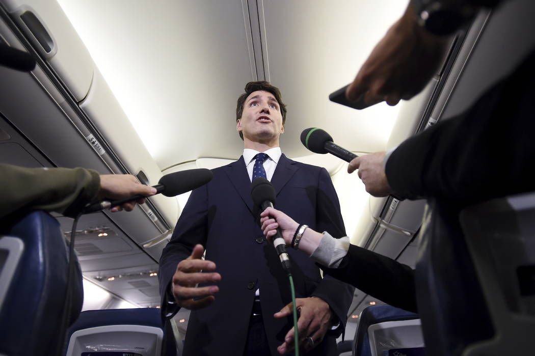 Canadian Prime Minister and Liberal Party leader Justin Trudeau makes a statement in regards to ...