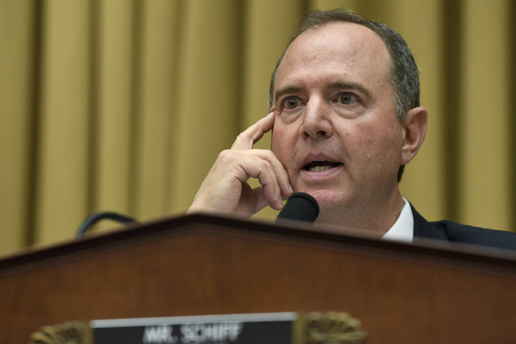 In a July 24, 2019, file photo, House Intelligence Committee Chairman Adam Schiff, D-Calif., sp ...