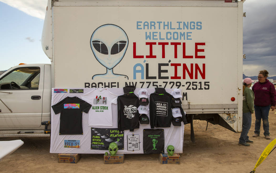 The Little'A'Le'Inn is one of many vendors set up with merchandise before the start of the Alie ...