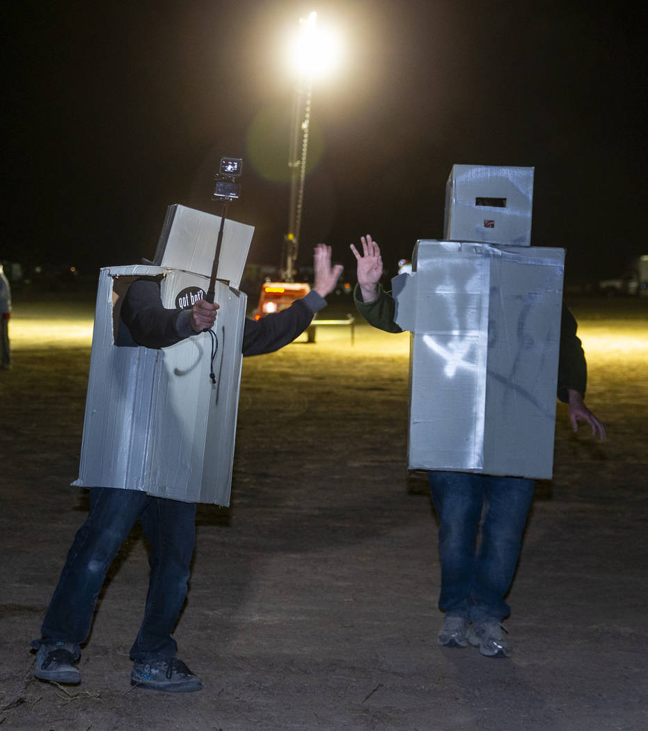 Several robots are on hand as Will Shamberger and Wily Savage open the Alienstock festival on T ...