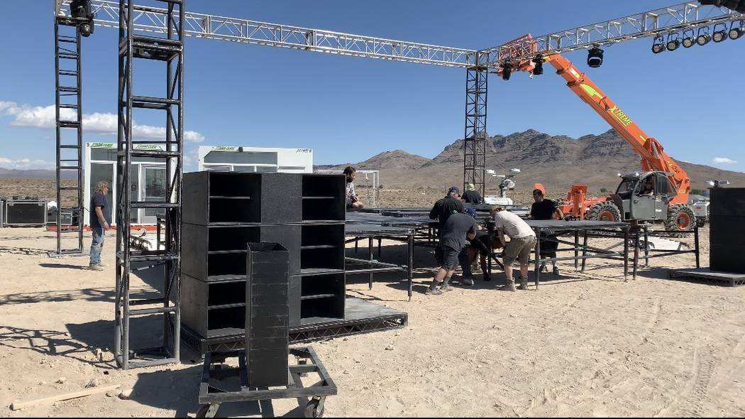 The stage is being set up at the Alien Research Center, site of this weekend's Area 51 Basecamp ...