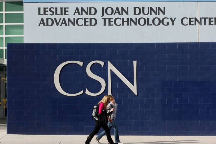 The College of Southern Nevada in Henderson (Las Vegas Review-Journal)