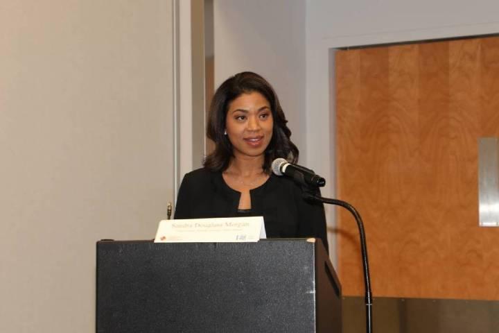 Sandra Douglass Morgan, chairwoman of the Nevada Gaming Control Board, at the Responsible Gamin ...