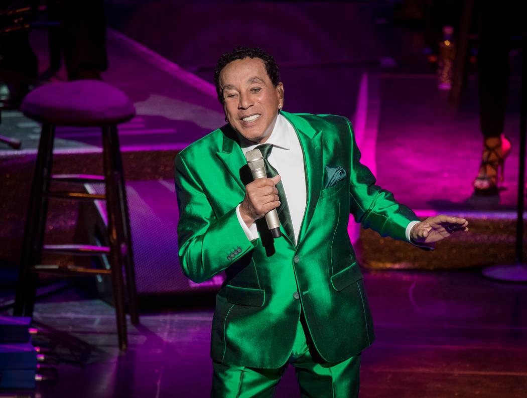 Smokey Robinson makes his Wynn Las Vegas debut with at Encore Theater on Feb. 27, 2019. (Erik K ...