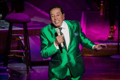 Smokey Robinson makes his Wynn Las Vegas debut with at Encore Theater on Feb. 27, 2019. (Erik K ...