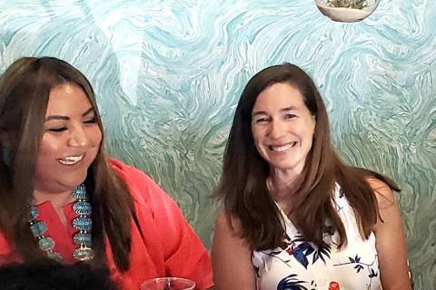 Amy O'Rourke, right, wife of 2020 Democratic presidential hopeful Beto O'Rourke, hosts a gun vi ...