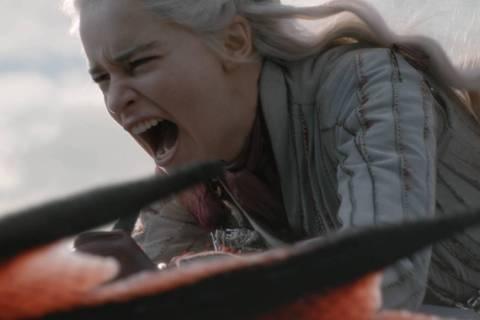 "Emilia Clarke in a scene from ""Game of Thrones."" photo: Helen Sloan/HBO"