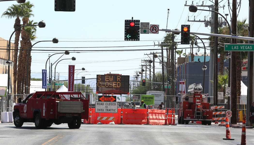 Stewart Street is closed for pedestrian and motor vehicle traffic in preparation for Life is Be ...