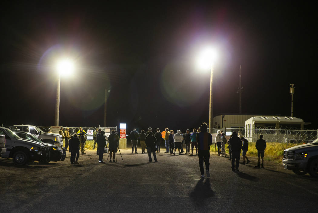 Individuals arrive in homage to the original Storm Area 51 idea about 3 a.m. at the back gate o ...