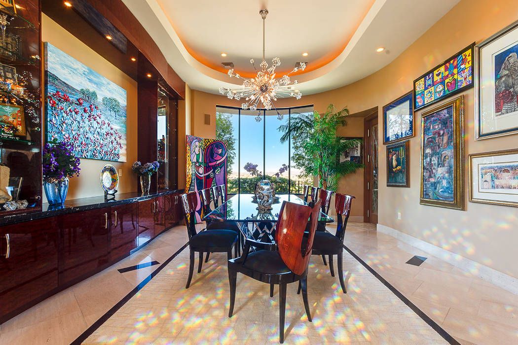 Ivan Sher Group The home's formal dining room showcases owners Rick and Ruth Sender art.
