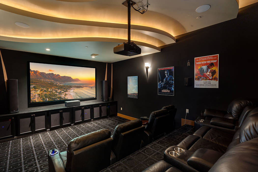 Ivan Sher Group Rick Sender designed his home theater with Dolby Atmos technology.