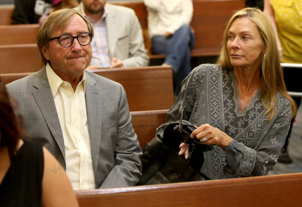 Former Las Vegas Convention and Visitors Authority CEO Rossi Ralenkotter waits in a courtroom w ...