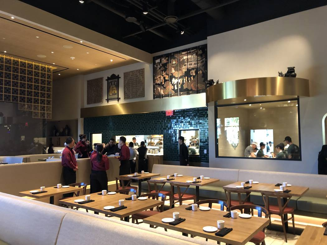 The dining room and open kitchen at Tim Ho Wan at the Palms. (Clint Jenkins)